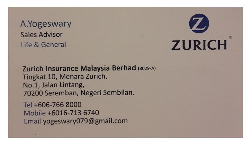 Zurich Sales adviser