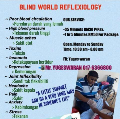 Blind world Reflexiology – Seremban